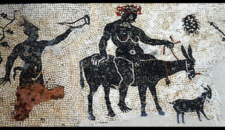 Mosaico romano de Baco. IMAXE / ANA BELÉN CANTERO PAZ