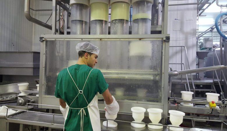 A fábrica de Queixerías Sarrianas en San Salvador do Mato (Sarria)