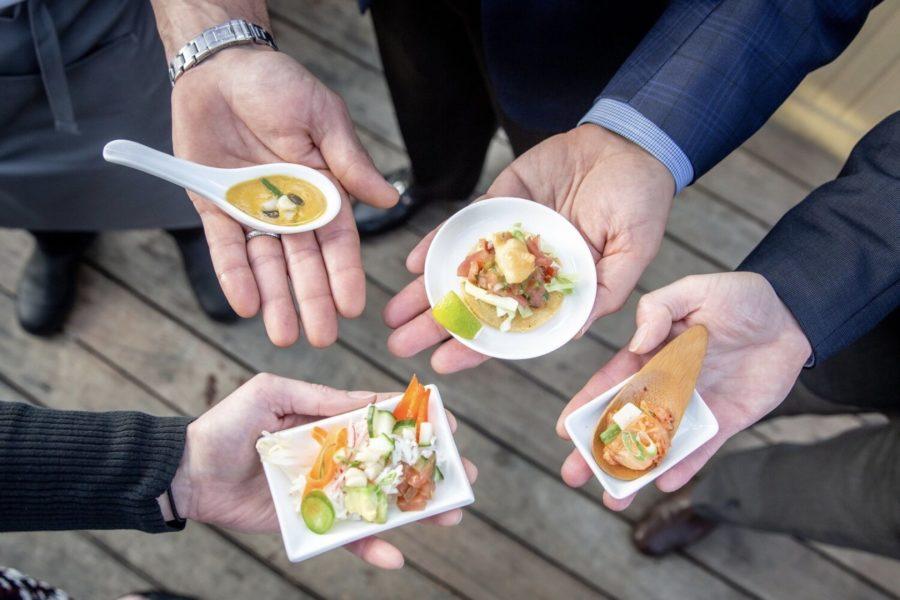 Varias mostras dos pratos feitos con este peixe