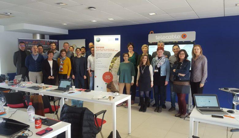 Foto de equipo dos socios do proxecto europeo S3 FOOD