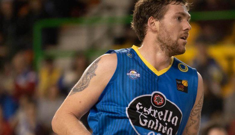 Kevin Van Wijk, xogador Club Ourense Baloncesto. / Foto: Carlos Domarco