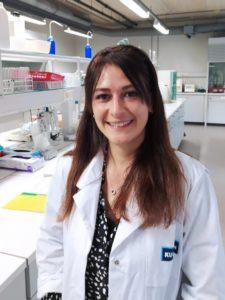 Cristina Pérez Santaescolástica na Universidade de Gante, en Bélxica, onde continúa o seu traballo investigador. Foto: Duvi.