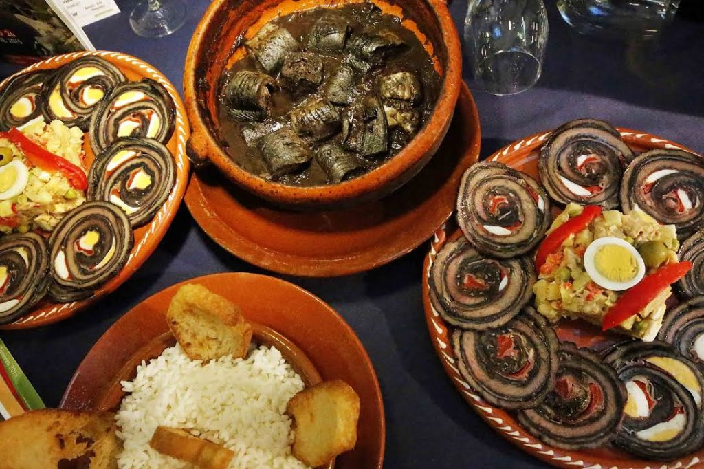 Diferentes preparacións de lamprea. Foto: Concello de Arbo