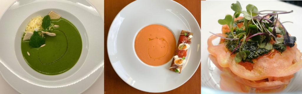 Tres dos pratos confeccionados por Tabalú para os xogadores do Celta.