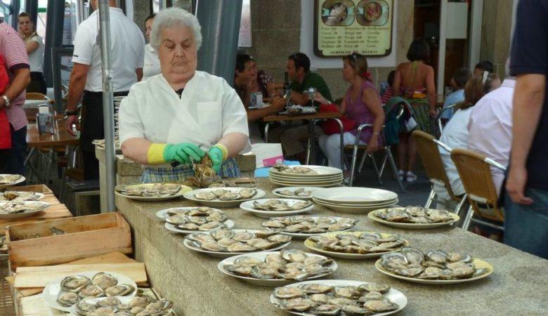 Rúa das ostras en Vigo. / Foto: Juantiagués
