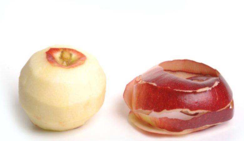 Os autores expoñen que as diferenzas entre comer froita con tona ou sen ela son mínimas para as achegas de fibra. Imaxe: Pixabay.